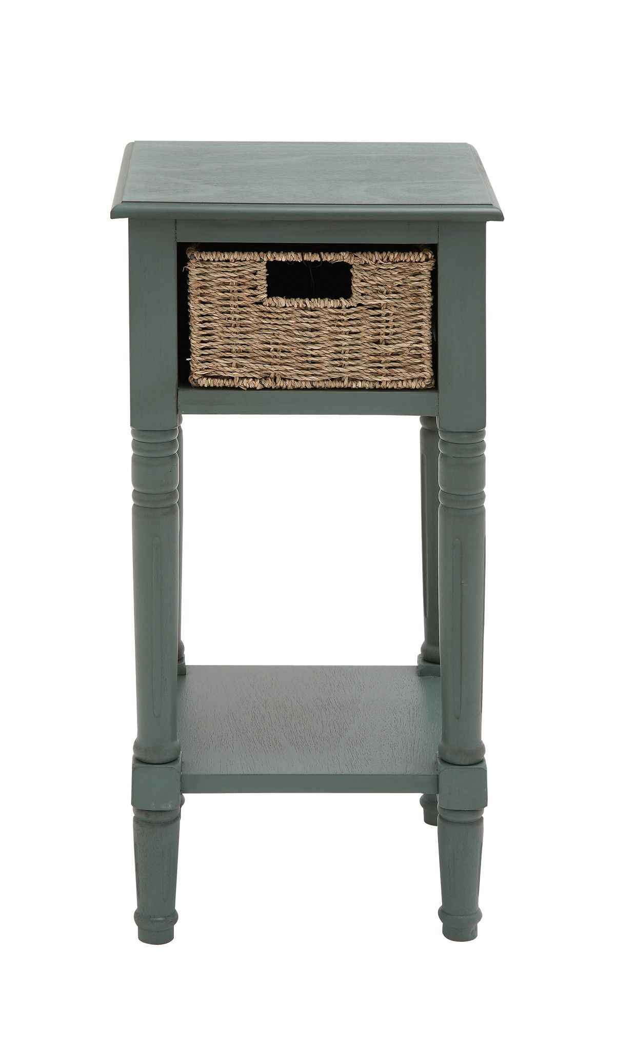 The Stony Wood Basket Accent Table