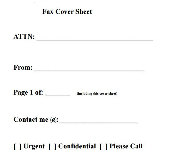 printable fax cover sheet free fax cover sheet template printable