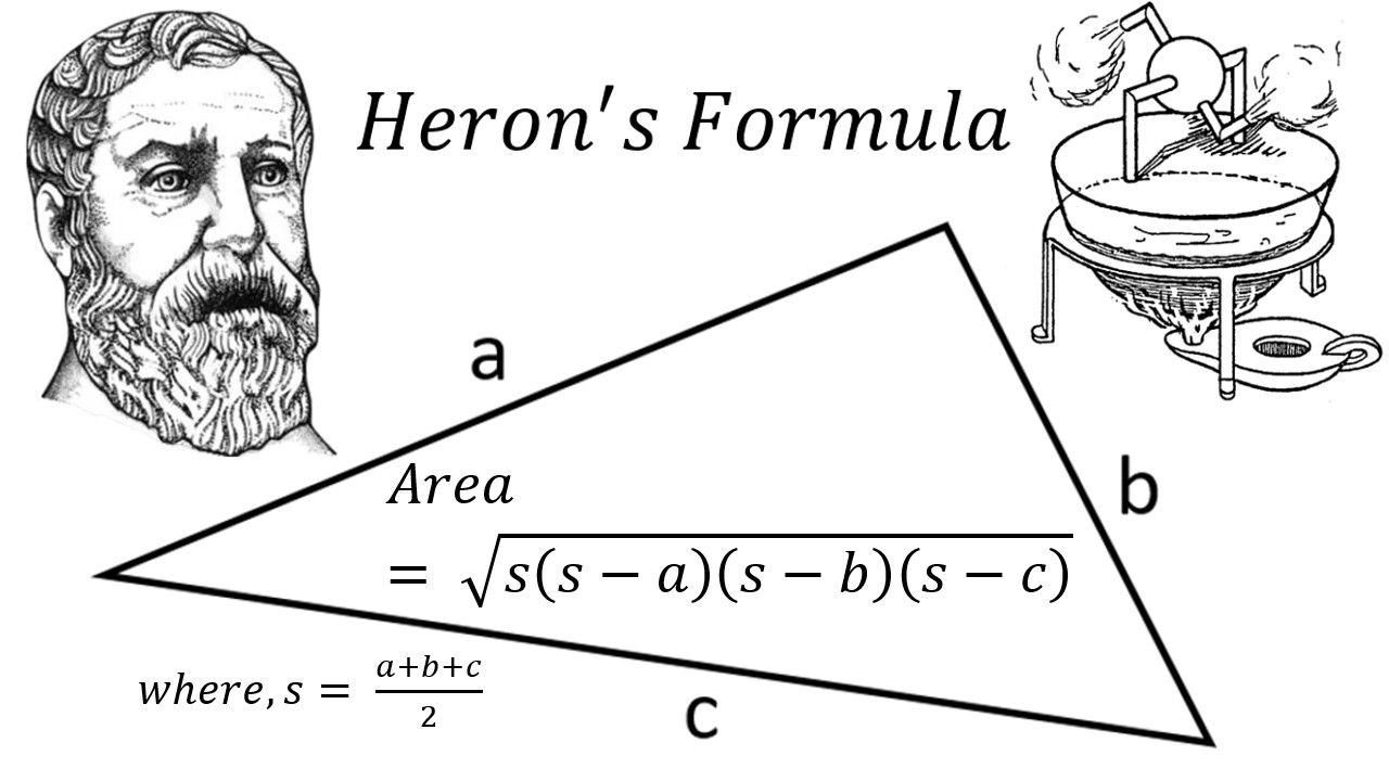 Heron's Formula: Area of a Triangle Knowing Lengths of 3