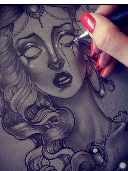Drawing,ghost,girl,woman,crying,realistic,amazing by ...
