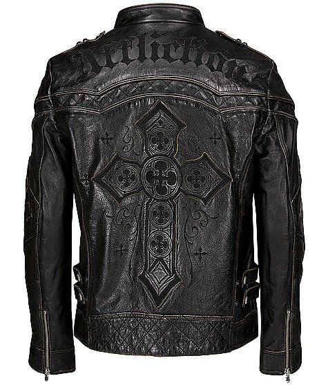 a5251a0b4e8e Affliction Black Premium Gear Up Leather Jacket