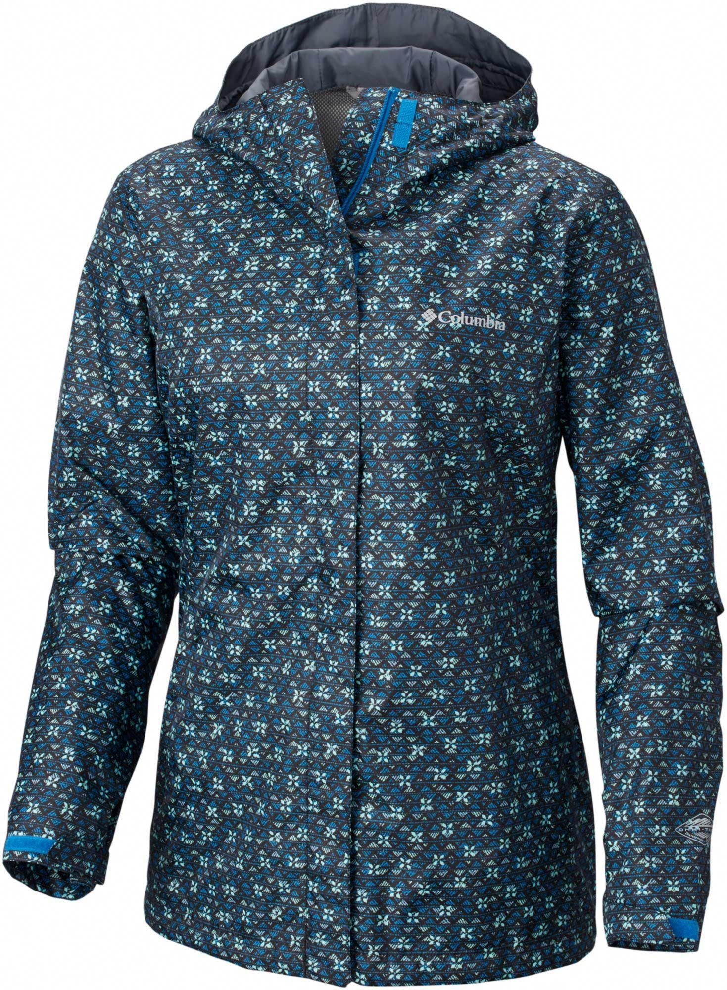 Columbia Women S Arcadia Print Rain Jacket Size Large Jewel Stripe Print Womenskhakiraincoat Rain Jacket Women Black Rain Jacket Best Rain Jacket