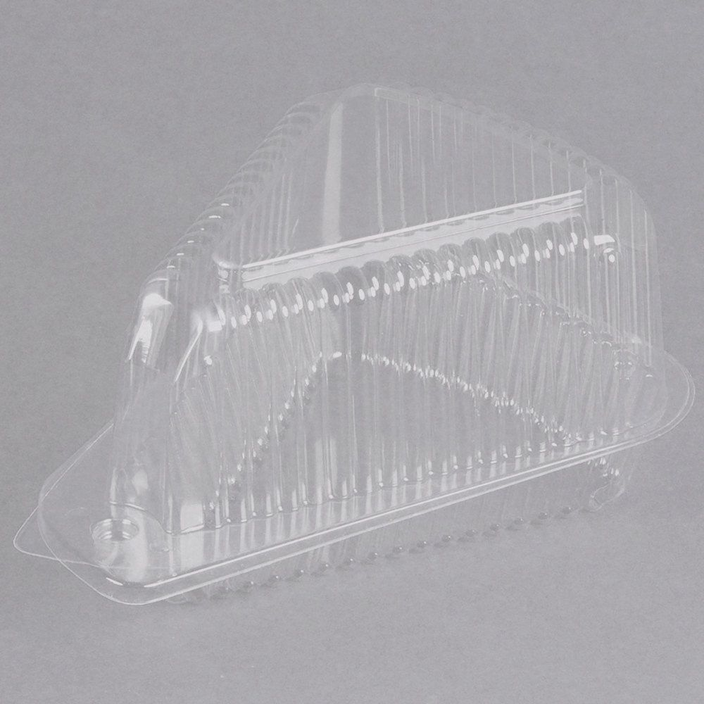 Polar Pak 3210 5 3 8 X 4 3 8 X 3 1 2 Clear Ops Wedge Single Slice Pie Container With Medium Dome Lid 300 Case Cake Slice Cake Slice Packaging Paks