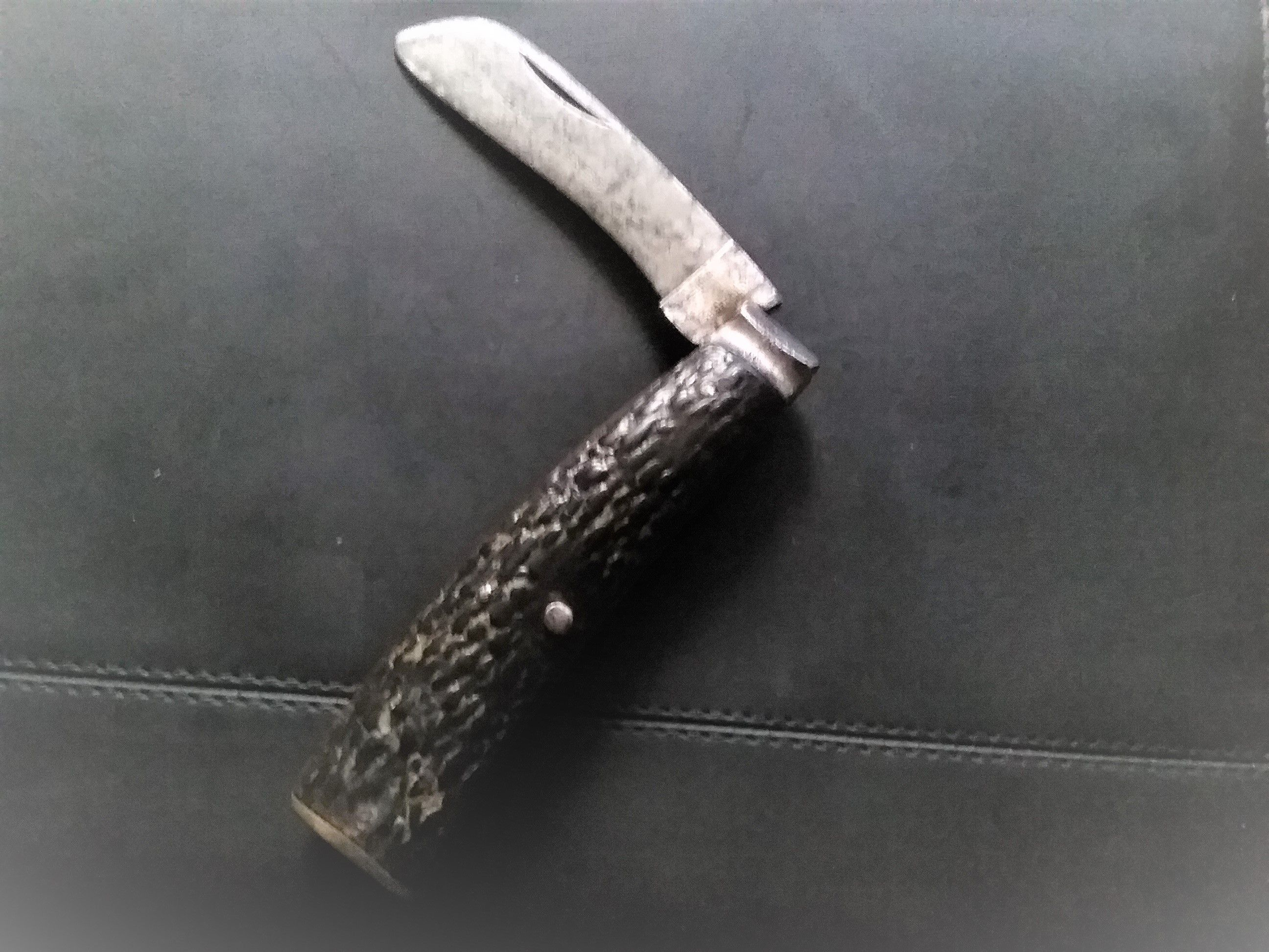 Christopher Johnson 19th Cent Pruner Stag Scales Brass