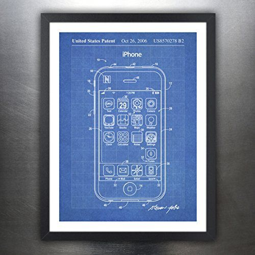 iPHONE POSTER US Patent Print Blueprint 18x24 Poster Apple Computer - new blueprint app for windows