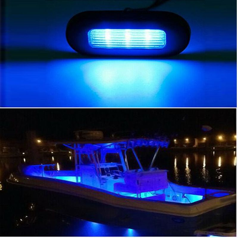 4x 3 Led 12v Boat Stair Deck Side Marker Light Courtesy Lights Indicator Turn Signal Lighting Marine Boat Accessor Marine Boat Boat Accessories Marine Hardware