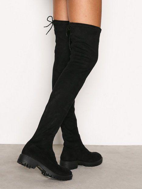 Chunky Flat Thigh High Boot | Lårhöga stövlar, Knähöga