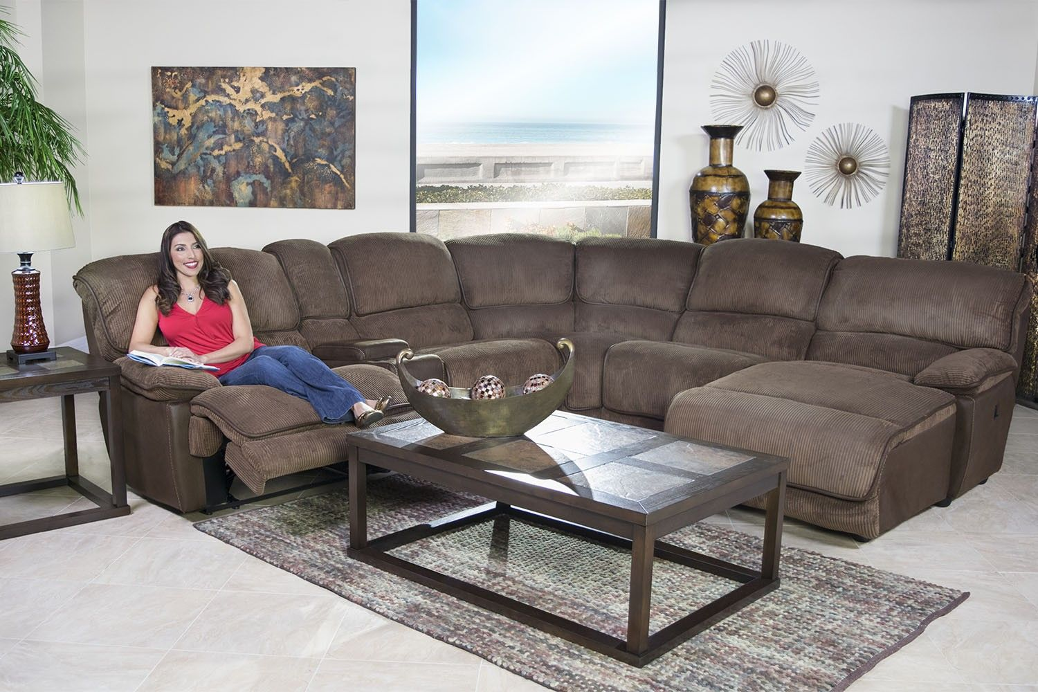 Strange Austin Chocolate 6 Piece Left Facing Chaise Sectional Gmtry Best Dining Table And Chair Ideas Images Gmtryco
