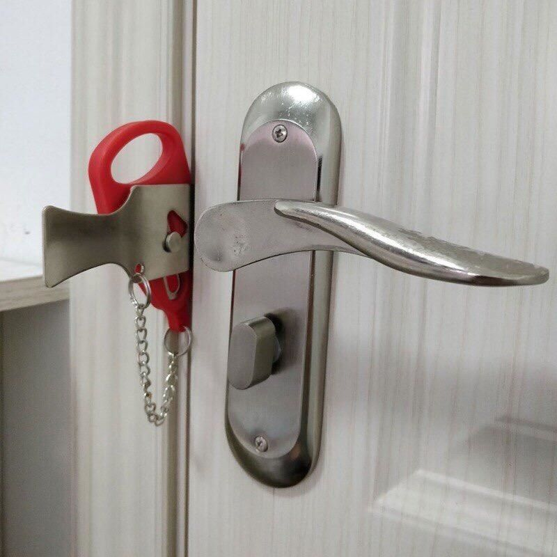 A Portable Door Lock For Added Security Or For Doors That Don T Have Locks It Jams The Door So It S Impossible For An Intruder To Force Themselves In Using The Door