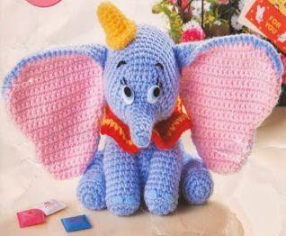 Dumbo Häkelanleitung Elefant Gehäkelt Kostenlos Handarbeiten