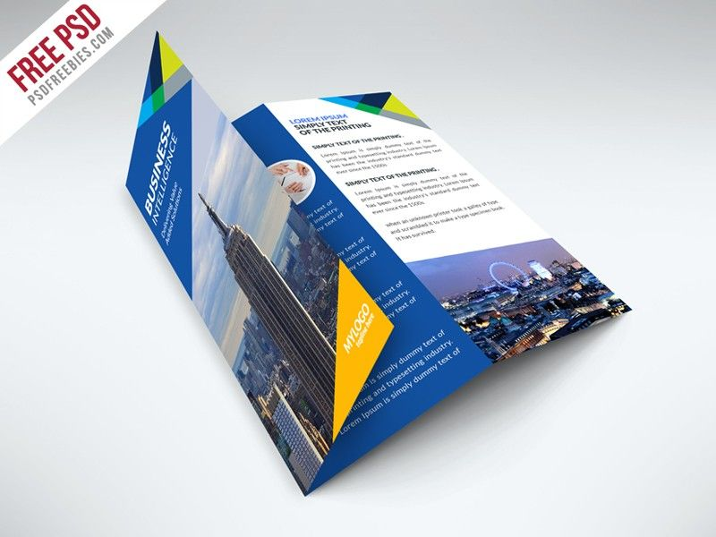 Free Business Trifold Brochure Psd Template Free Flyer Template
