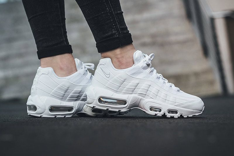 The Nike Air Max 95 White Pure Platinum Is Cooler Than Ice Cold Missbish Women S Fashion Fitness Lifestyle Magazine Nike Air Max 95 Nike Air Max Air Max 95 White