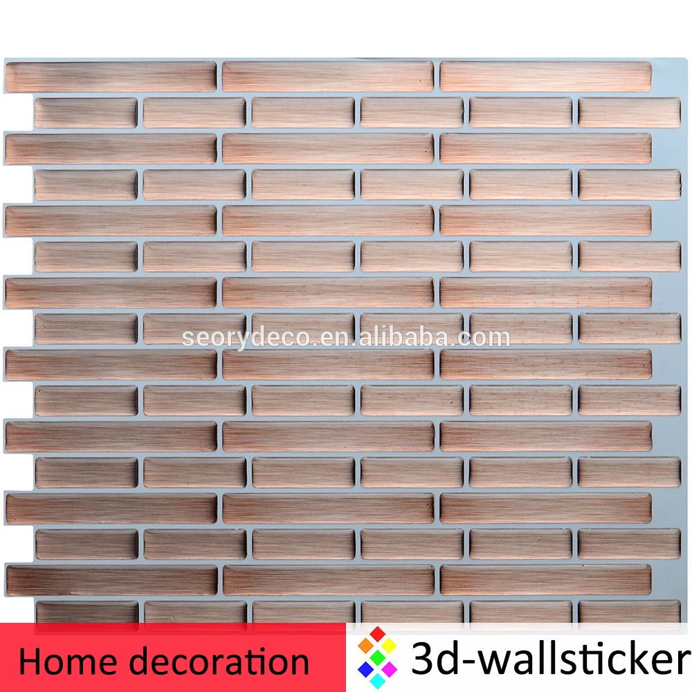 Wall Tile For Kitchen New Arrival Waterproof Self Adhesive Vinyl Kitchen Wall Tile For