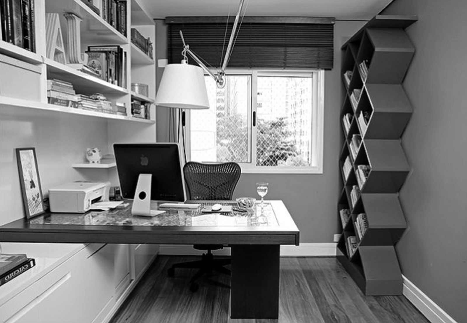 Modern small office design ideas minimalist desk design - Small office setup ideas ...