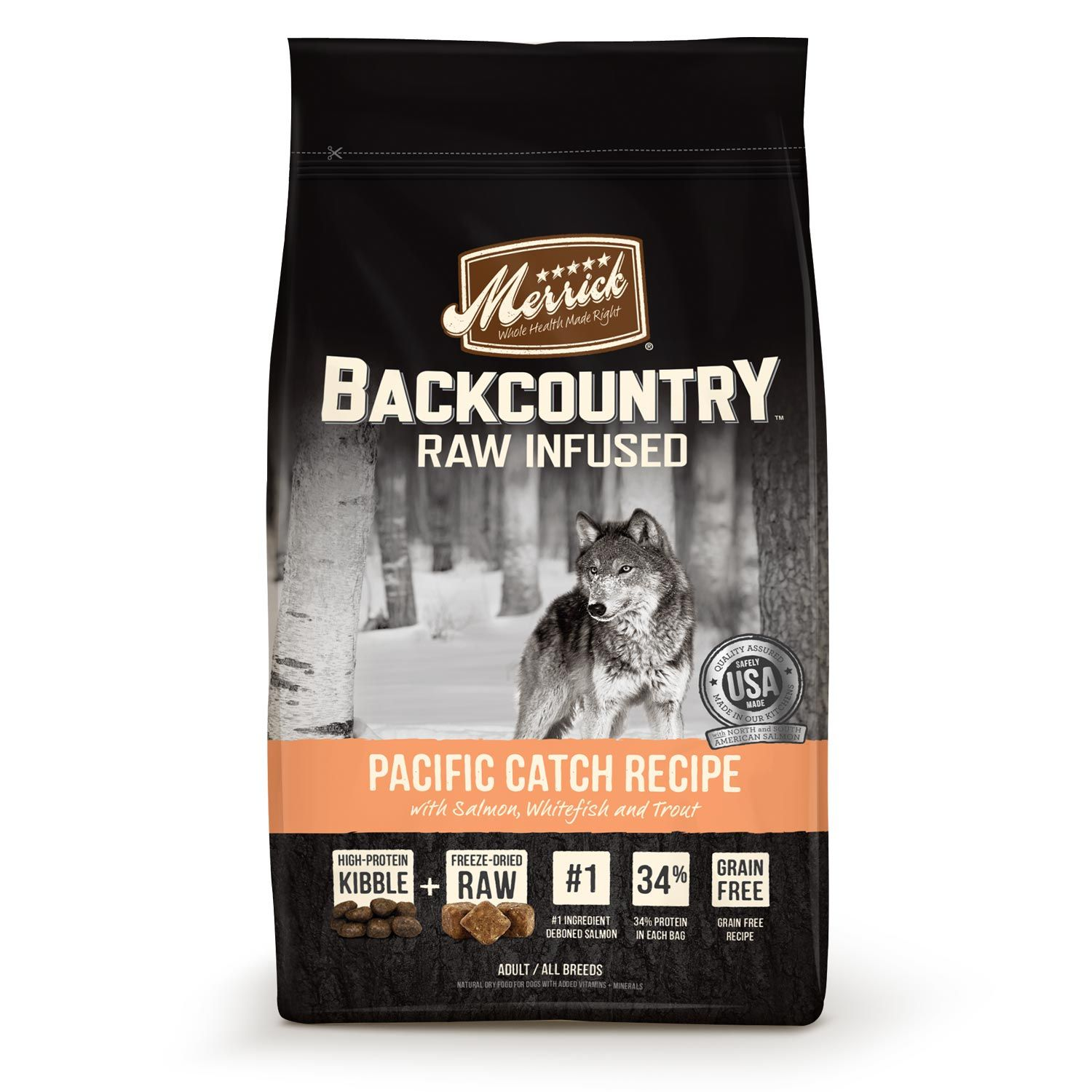 Merrick Backcountry Grain Free Raw Infused Pacific Catch Adult Dog