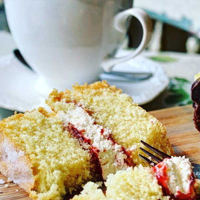 What's your favourite cake? Our customers seem to like our Victoria sponge, not quite traditional, fresh cream and strawberry jam, still delicious.
