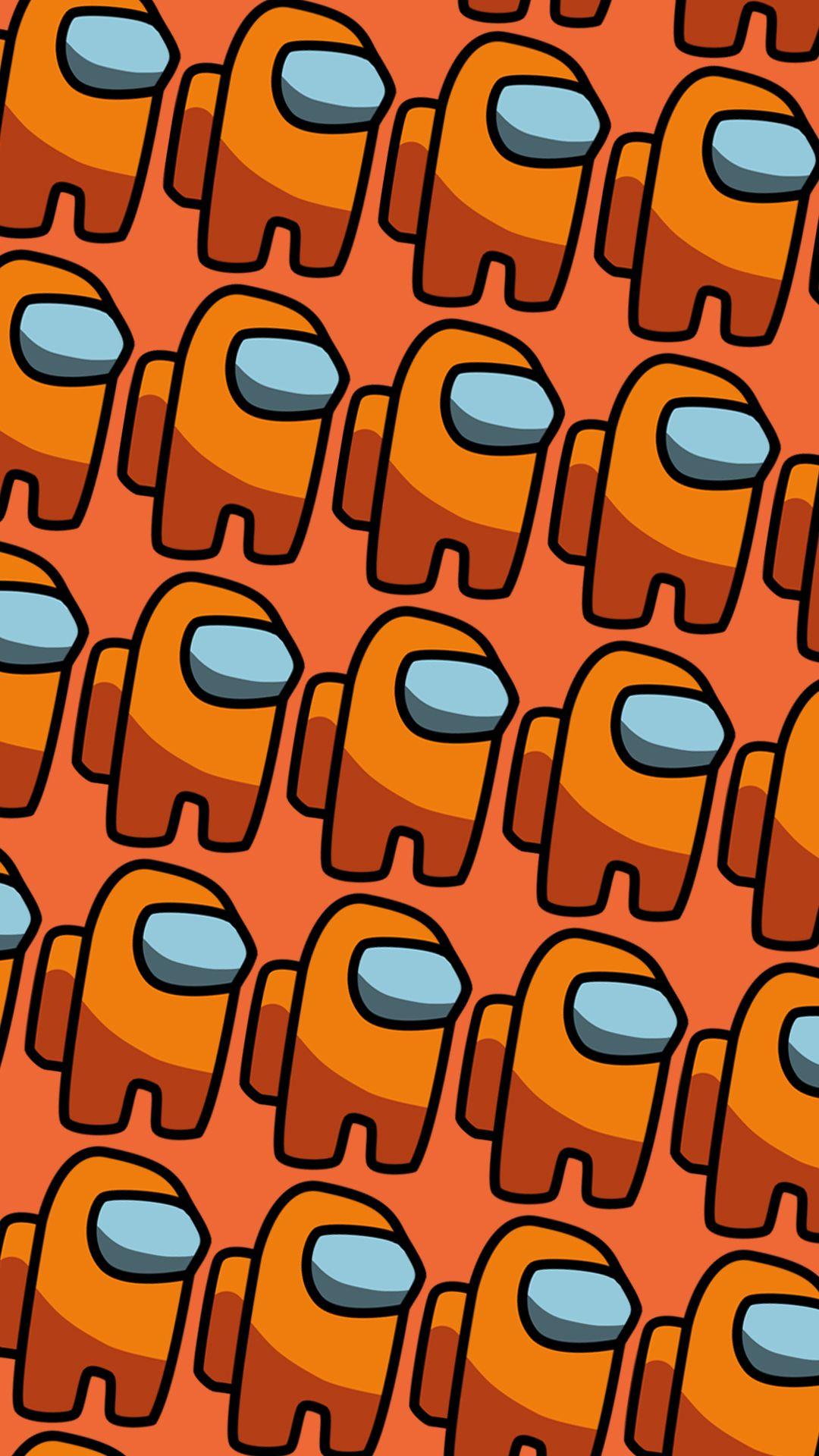 Orange Among Us Orange Aesthetic Iphone Wallpaper Orange Orange Wallpaper