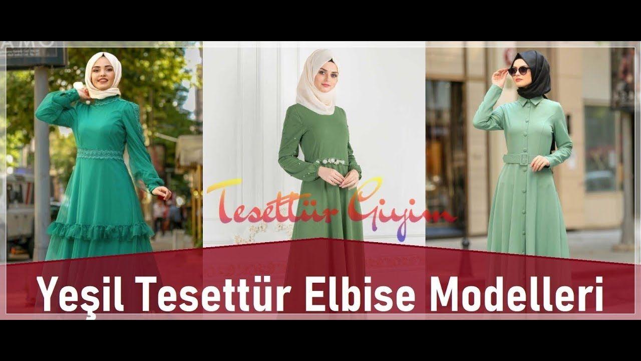 Yesil Tesettur Elbise Modelleri Fashion Long Sleeve Dress Dresses
