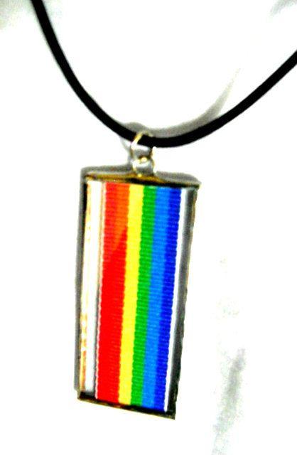Rainbow tree pride pendant