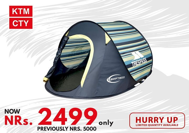Trespass Swift 200 Camping Tents Now Nrs 2499 Only Huuuurrrryyyy Set Your Camping Plans Available At Durbar Marg 423259242 Ktm Trucker Hat Tent Camping