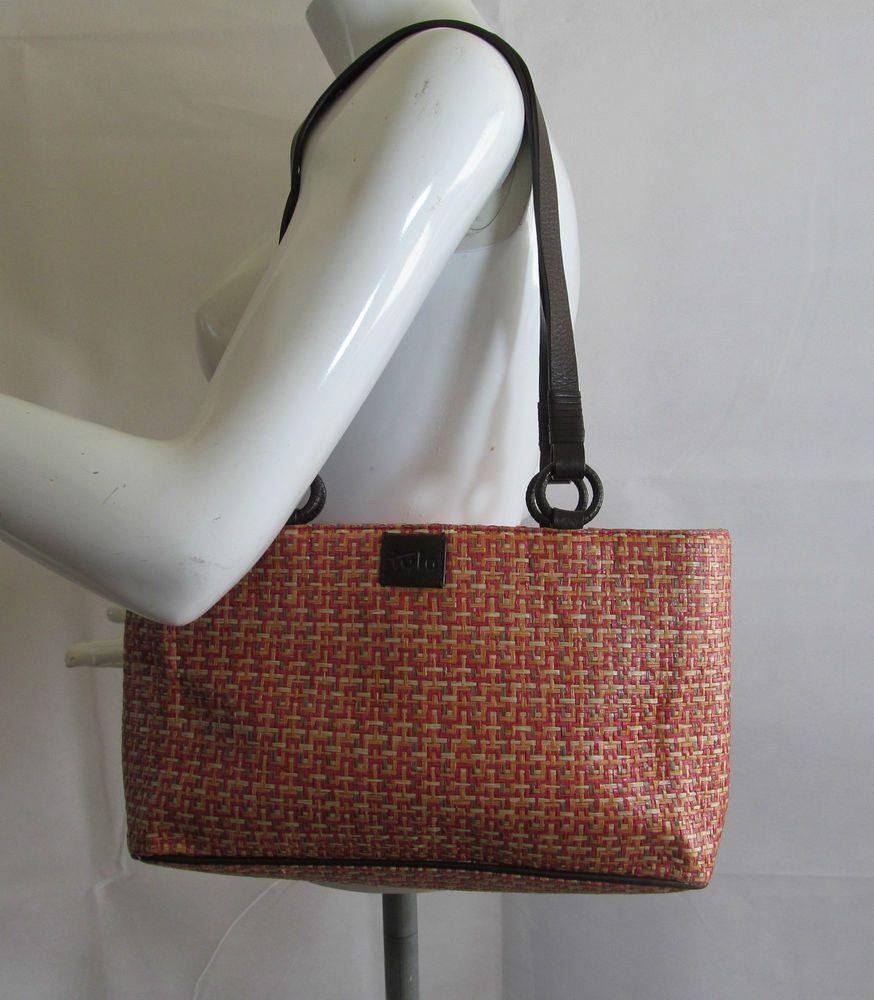 Tula by Radley multi straw leather trim shoulder bag handbag purse R15309 #style #fashion #love #woman #chic #follow #eBay #handbag #sangriasuzie