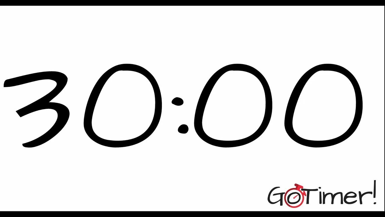 30 minute countdown timer with alarm timers pinterest
