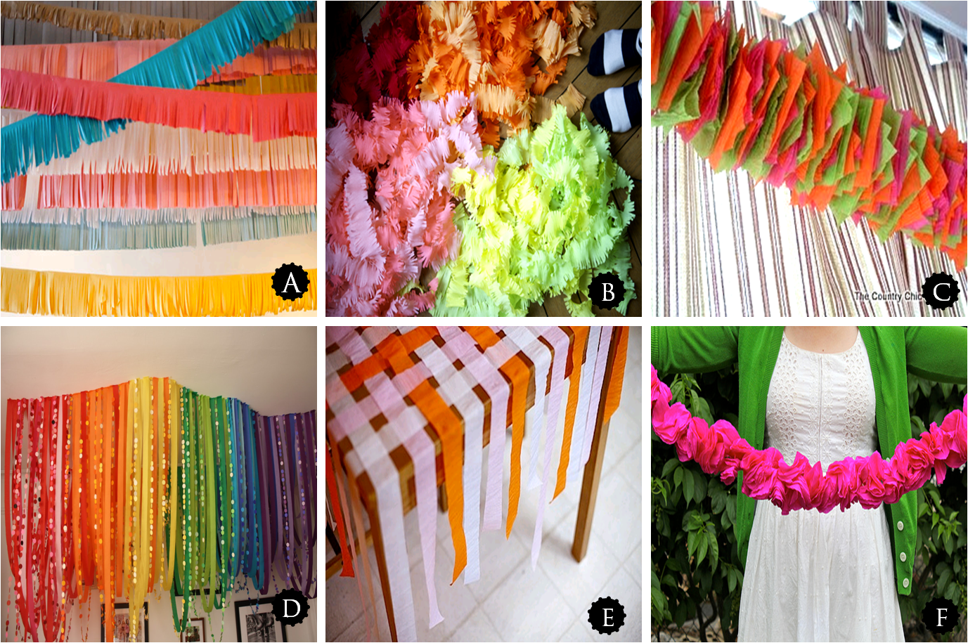 birthday party streamer decor idea love the cross hatching on the