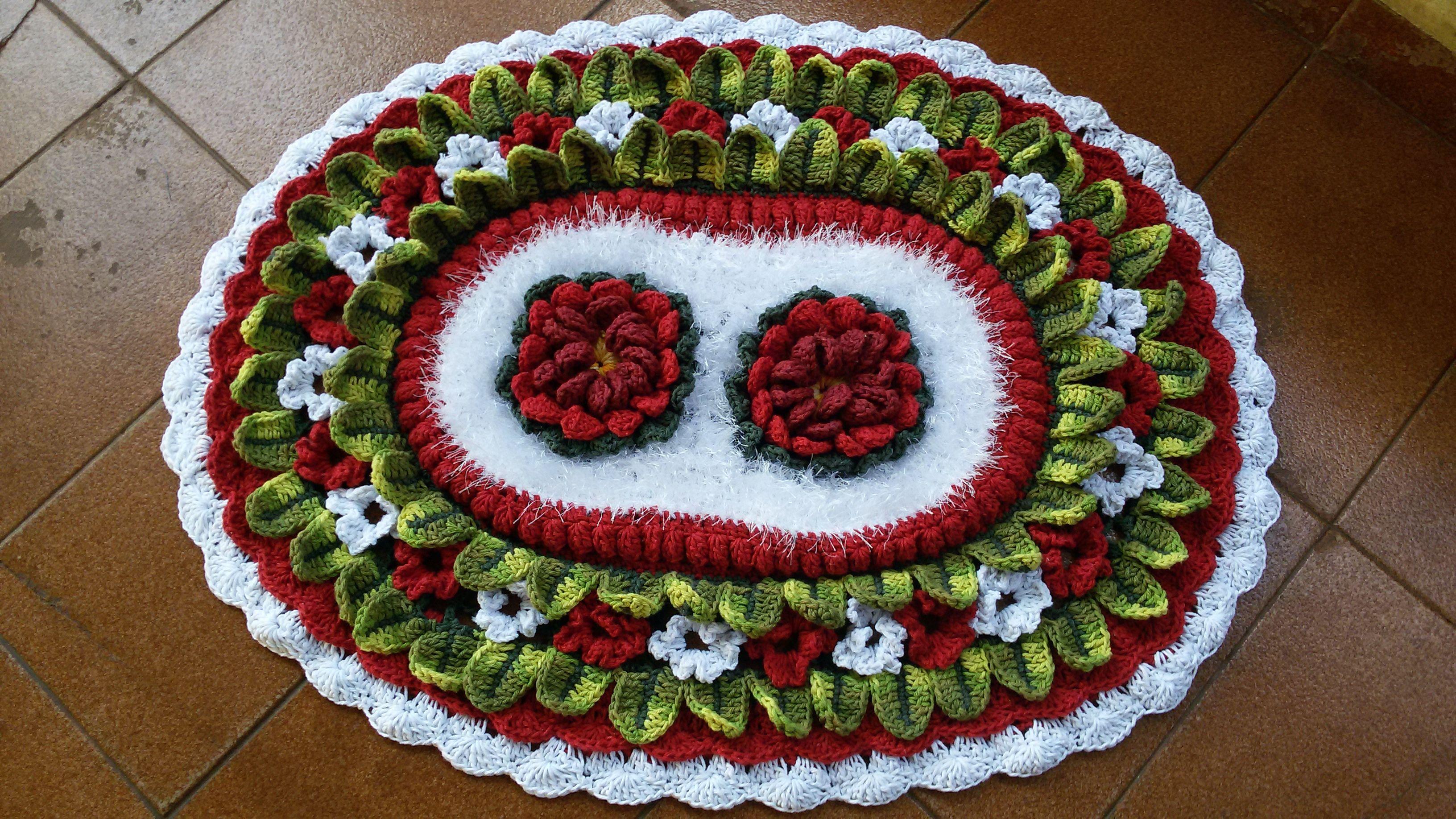 tapete de croche redondo com barroco decore - Pesquisa Google