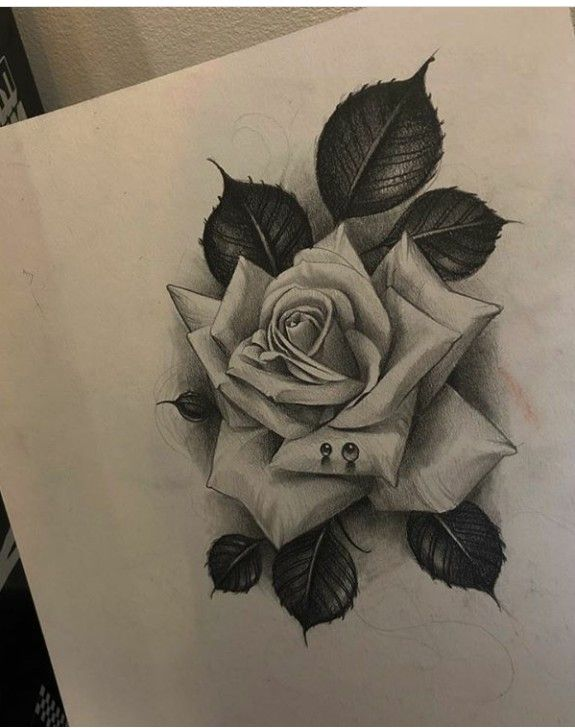 Pin By Jep On Rose Realistic Rose Tattoo Rose Tattoo Design Rose Flower Tattoos
