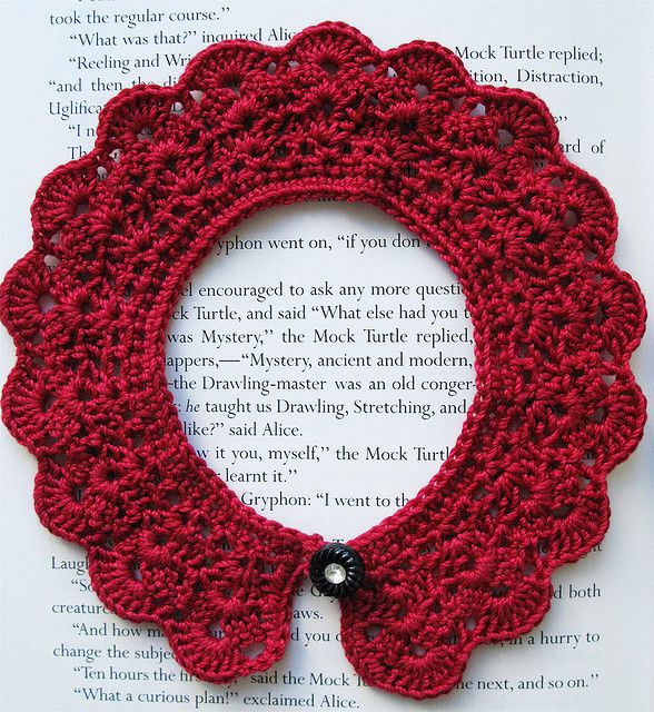 DIY: crochet collar   Crochet: beyond blankets   Pinterest   Kragen ...