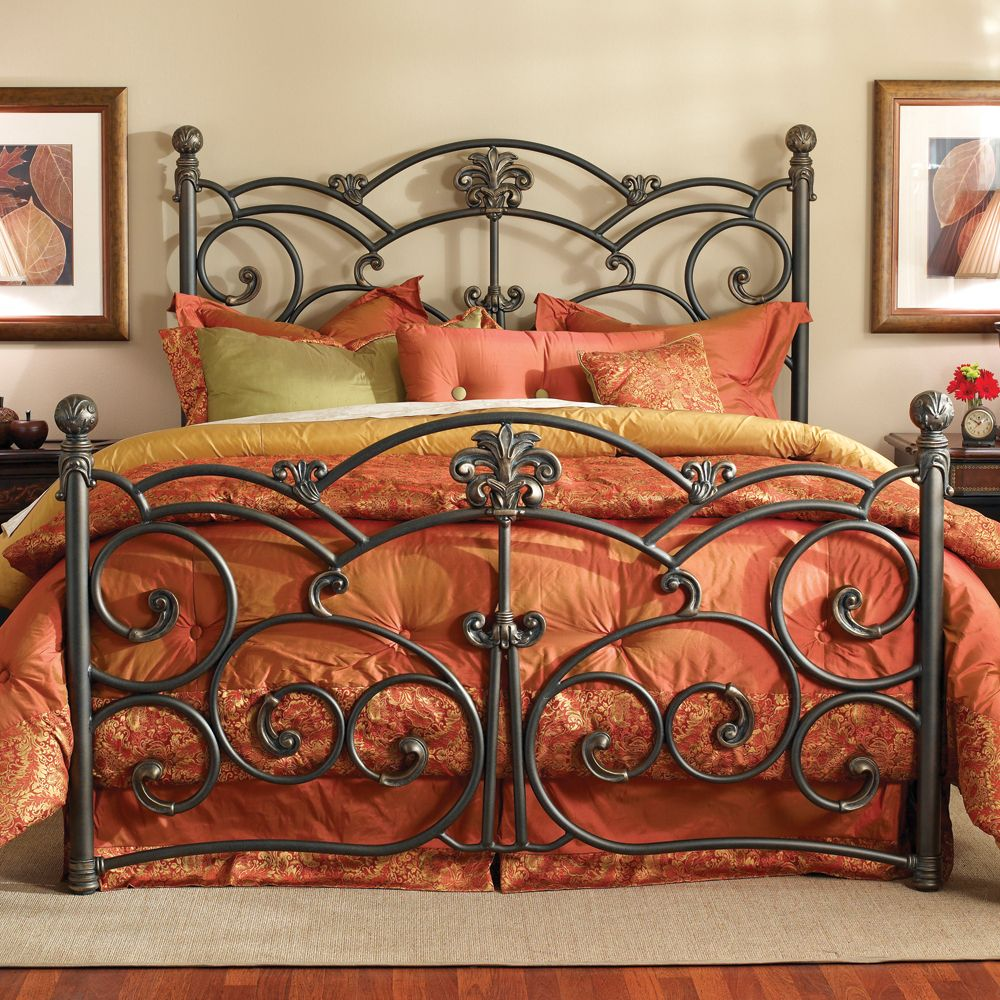 Lucerne Bed by Wesley Allen Wrought Iron Conventional