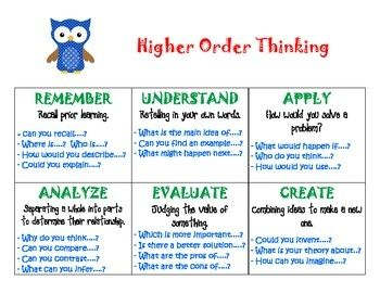 What are high-order thinking questions?