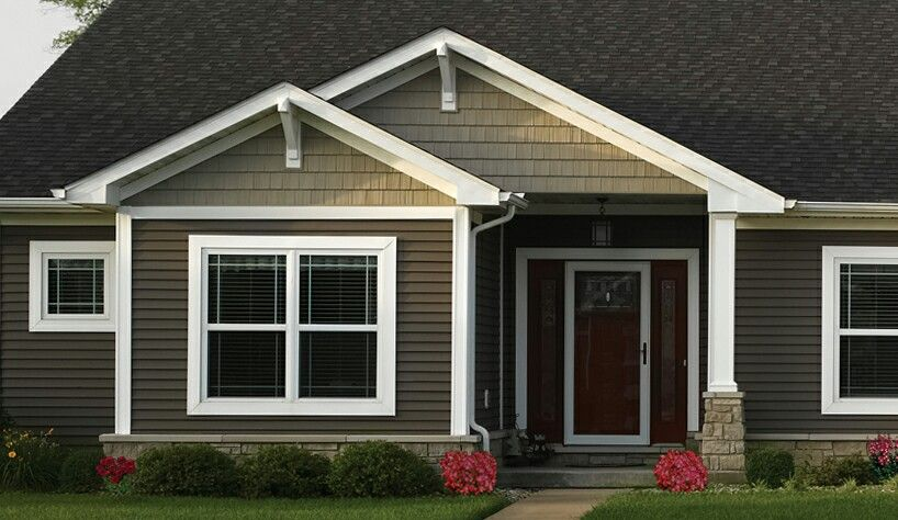 Deciding Between Light On Top Dark On Bottom Or Vice Versa Brown House Exterior House Paint Exterior Exterior Paint Colors For House