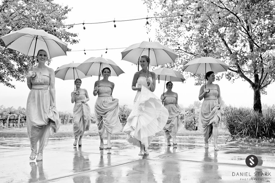 Reservoir Girls. :) A fun bridal shot (and it's candid) from a Napa Valley wedding by www.danielstarkphotography.com