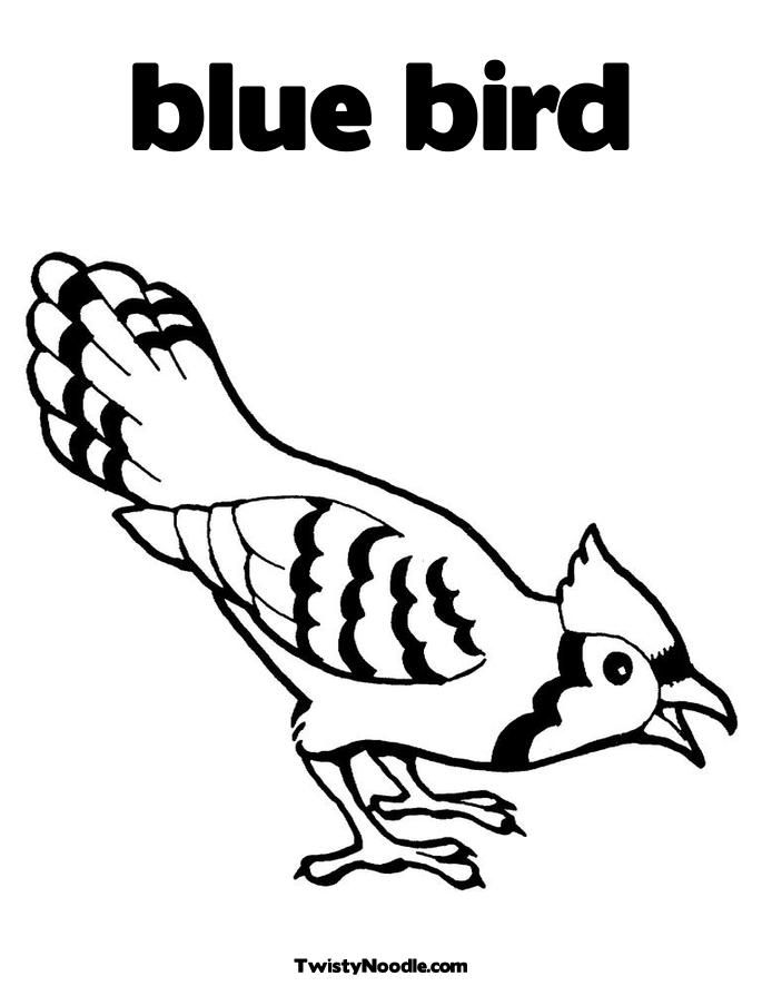 Blue Bird Coloring Page For Kids Coloring Pages Bird Coloring Pages Blue Jay Bird Tree Coloring Page