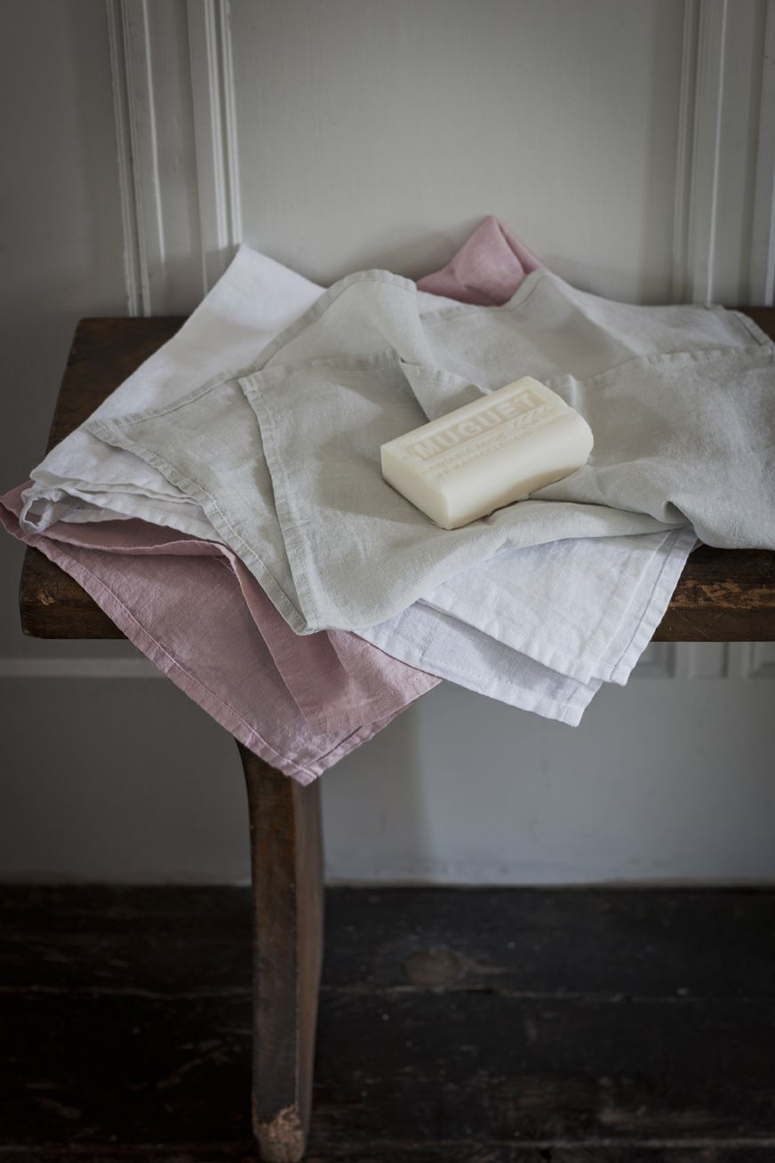 Washed Linen Hand / Tea Towels - www.thelinenworks.co.uk