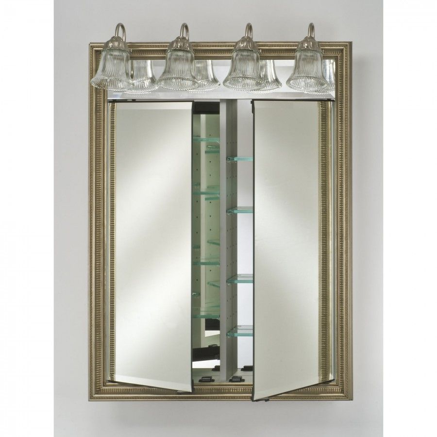 Afina signature recessed double door bathroom cabinet with