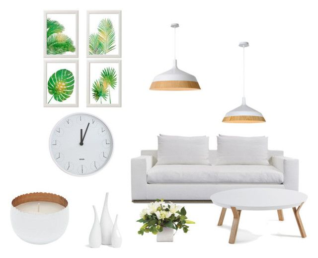 """""""White livingroom"""" by polymnia-panagidi ❤ liked on Polyvore featuring interior, interiors, interior design, home, home decor, interior decorating, Harbour Outdoor, Mitchell Gold + Bob Williams, Driade and M&Co"""