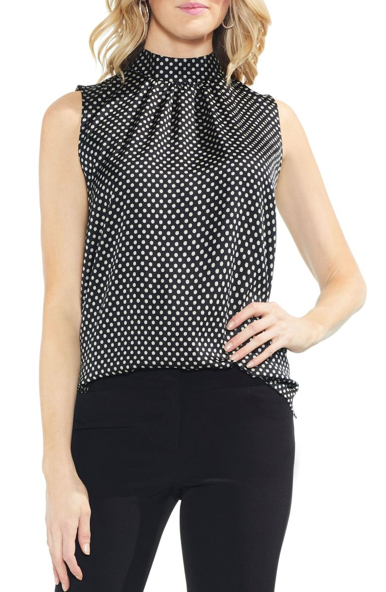 e99d2aab8fca3 Free shipping and returns on Vince Camuto Geo Trinket Tie Back Top at  Nordstrom.com.  p With ties sweetly bowed at the nape and a medallion-dot  print in a ...