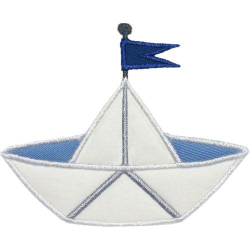 Paper boat applique design transportation pinterest boating paper boat applique design malvernweather Images