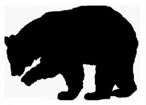 Black Bear Template Bear Necessity Bear Silhouette