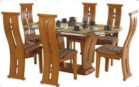 Image Result For Dining Table Designs In Wood And Glass Indian Wooden Dining Room Furniture Dining Room Furniture Design Wooden Dining Table Set