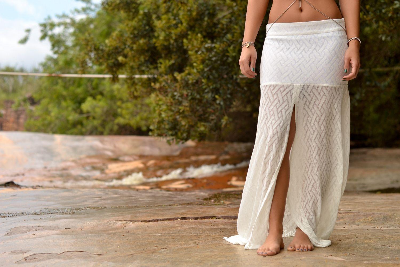 Teia skirt // off white www.1303store.com.br