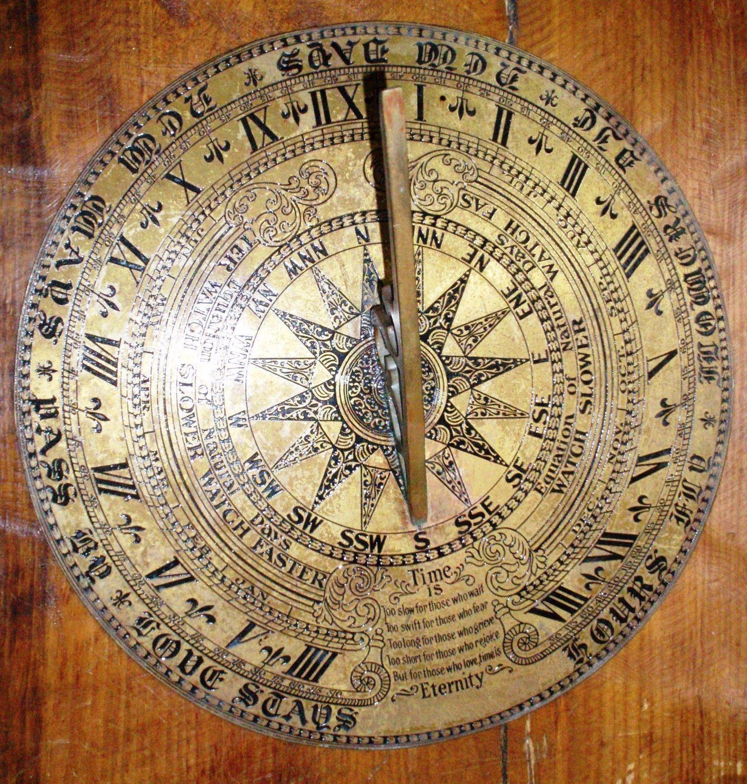 Ornately engraved sundial~ US $499.00 Used in Home & Garden, Yard ...