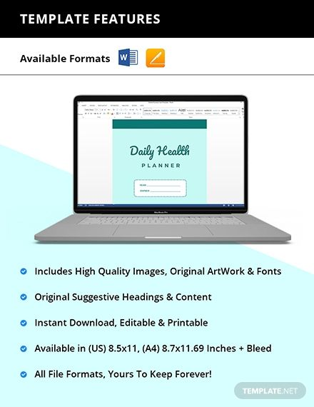 Daily Health Planner Template #AD, , #sponsored, #Health, #Daily, #Template, #Planner