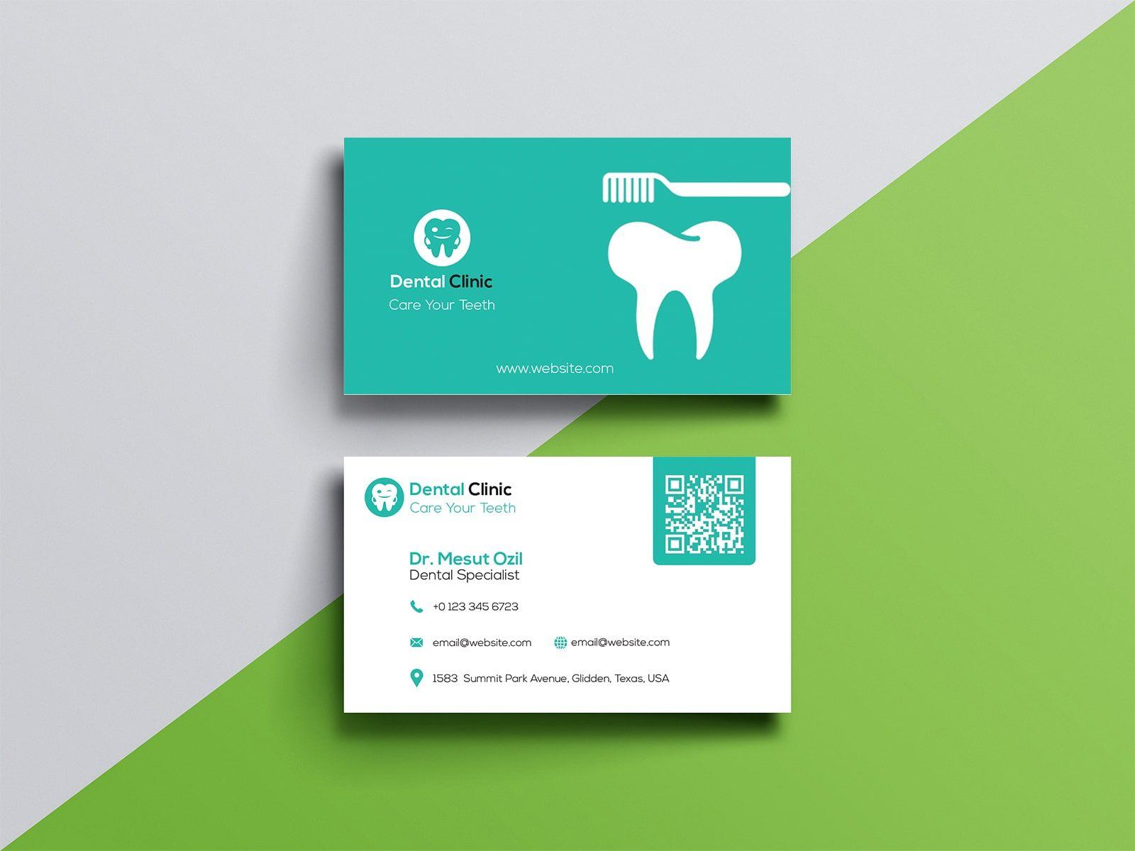 Dentist Business Card Design Business Card Design Card Design Classic Business Card