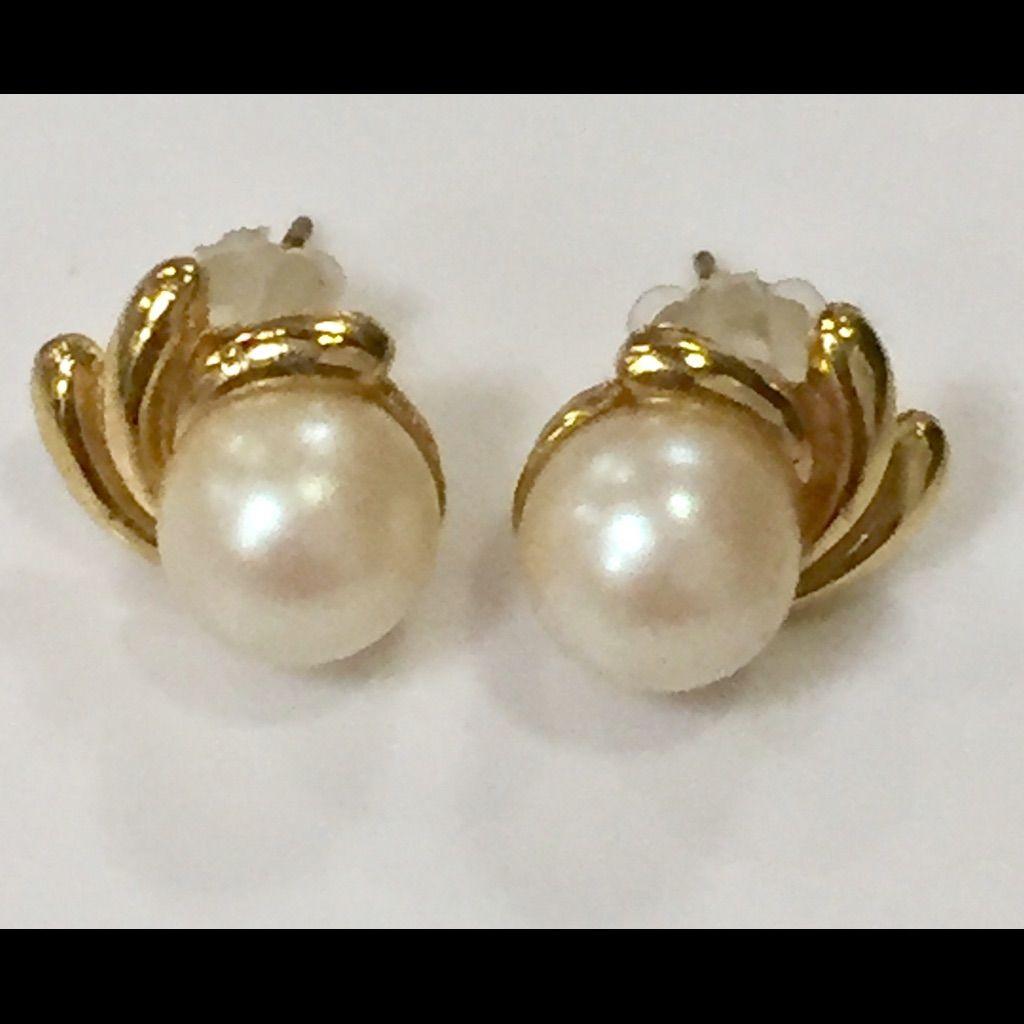 Vintage Pearl Stud Earrings