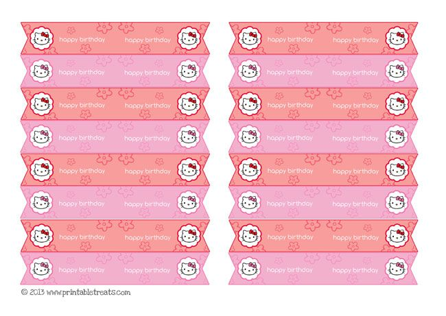 Free Download Cute Printables Template Free PrintableHello Kitty – Hello Kitty Birthday Party Invitations Printable