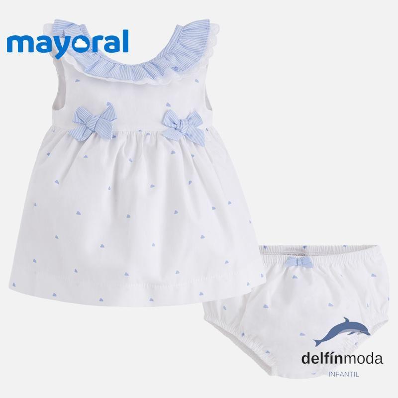 cf92bb1ac Comprar Vestido de bebe niña MAYORAL sin mangas con braguita