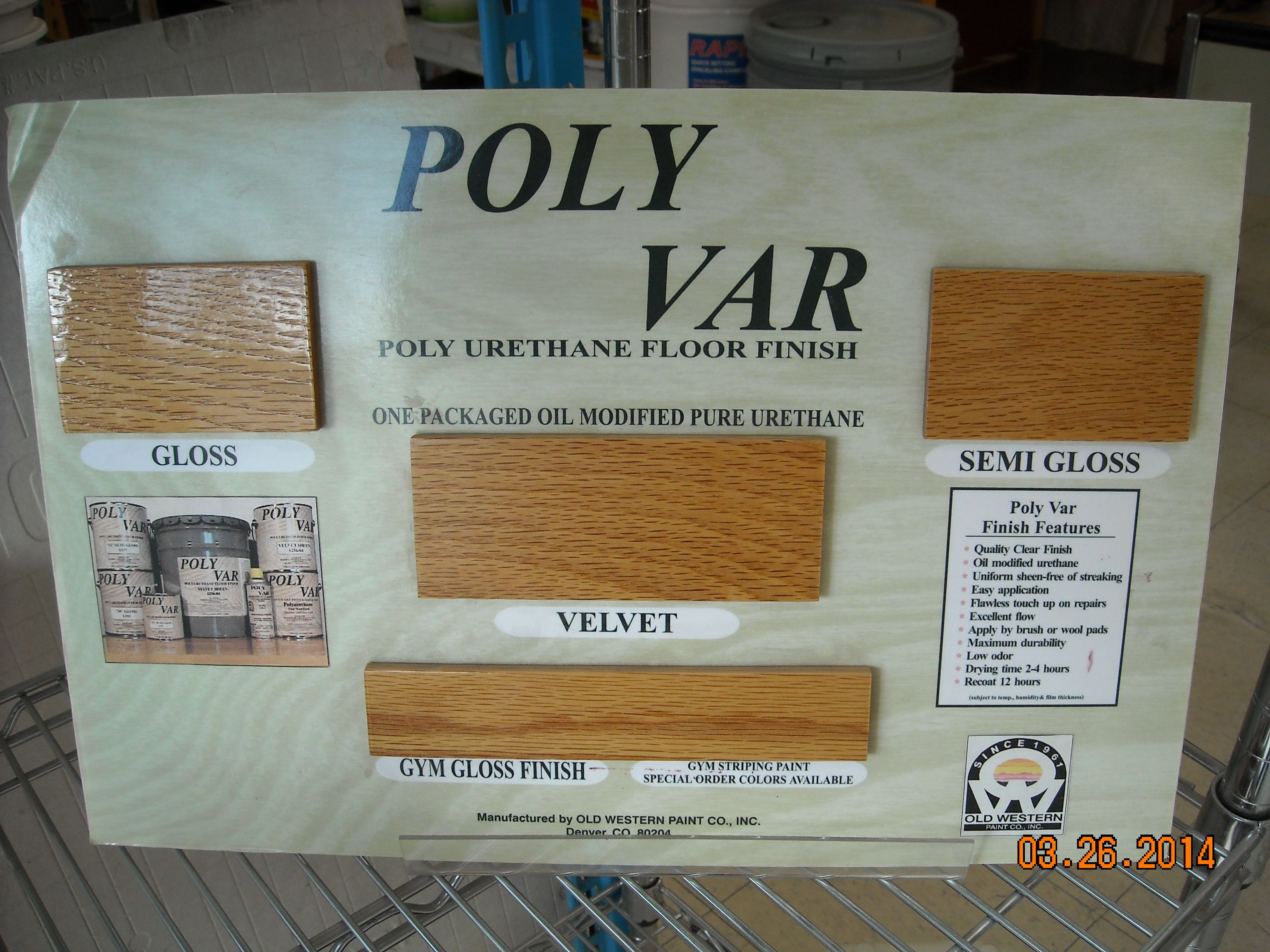 Poly Var Is An Oil Modified 100 Pure Urethane That Is A Clear Durable Interior Polyurethane Floor Finish For Use On All Wood Flo Fun With Stain Polyu
